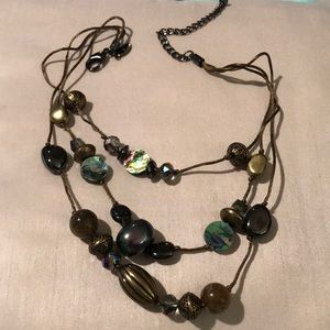 Chico's gold and multi color necklace